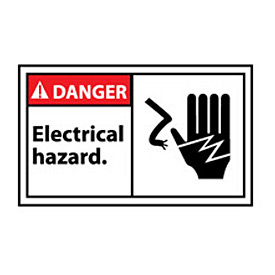 Graphic Machine Labels - Danger Electrical Hazard