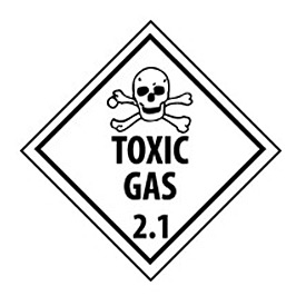 DOT Placard - Toxic Gas 2.1