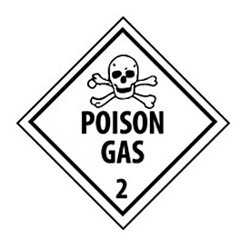 DOT Placard - Poison Gas