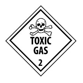 DOT Placard - Toxic Gas 2