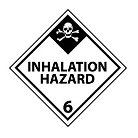 DOT Placard - Inhalation Hazard 6