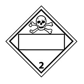 DOT Placard - Poison Gas 2