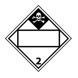 DOT Placard - Inhalation Hazard 2