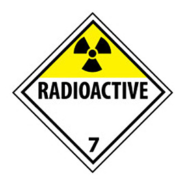 DOT Placard - Radioactive 7