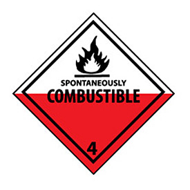 DOT Placard - Spontaneously Combustible 4