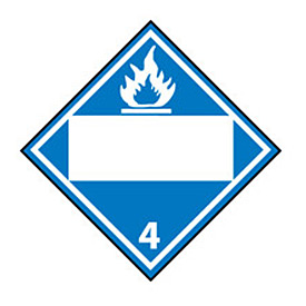 DOT Placard - Dangerous When Wet 4