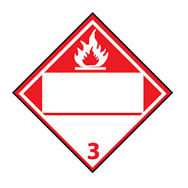 DOT Placard - Flammable 3