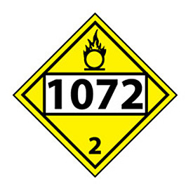 DOT Placard - Four Digit 1072