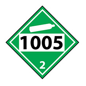 DOT Placard - Four Digit 1005
