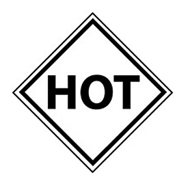 DOT Placard - Hot