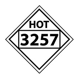 DOT Placard - Four Digit 3257