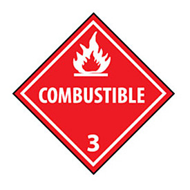 DOT Placard - Combustible 3