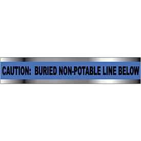 "Detectable Underground Warning Tape - Caution Buried Non-Potable Line - 3""W"