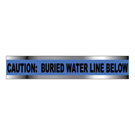 "Detectable Underground Warning Tape - Caution Buried Water Line Below - 6""W"