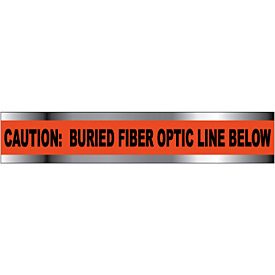 "Detectable Underground Warning Tape - Caution Buried Fiber Optic Line - 6""W"