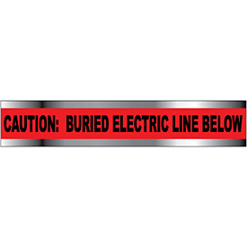 "Detectable Underground Warning Tape - Caution Buried Electric Line Below - 6""W"