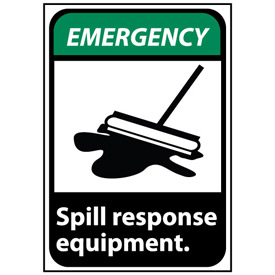 Emergency Sign 10x7 Vinyl - Spill Response Equipment