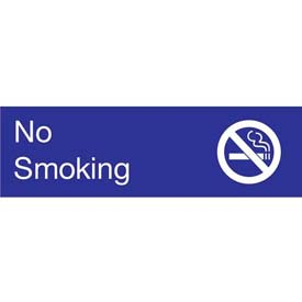 Engraved Sign - No Smoking - Blue