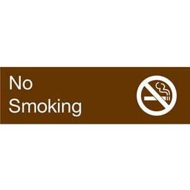Engraved Sign - No Smoking - Brown