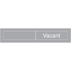 Engraved Occupancy Sign - Occupied Vacant - Black