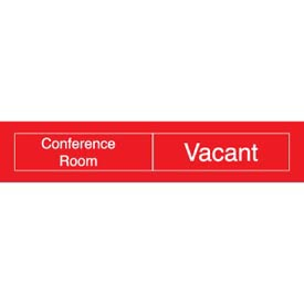 Engraved Occupancy Sign - Conference Room In Use Vacant - Red
