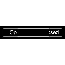 Engraved Occupancy Sign - Open Closed - Black