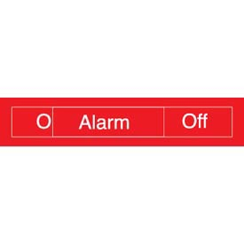 Engraved Occupancy Sign - Alarm On Off - Black