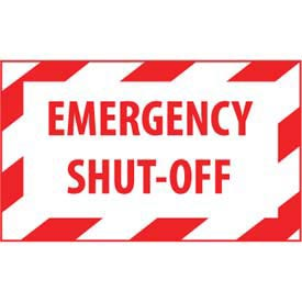 Graphic Machine Labels - Emergency Shut-Off