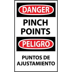 Bilingual Machine Labels - Danger Pinch Points