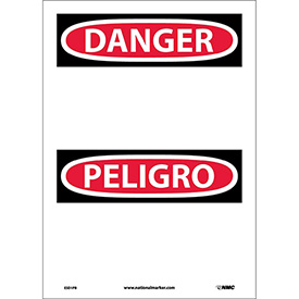 Bilingual Vinyl Sign - Danger Blank