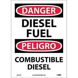 Bilingual Vinyl Sign - Danger Diesel Fuel