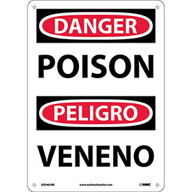 Bilingual Plastic Sign - Danger Poison