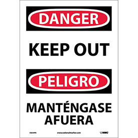 Bilingual Vinyl Sign - Danger Keep Out