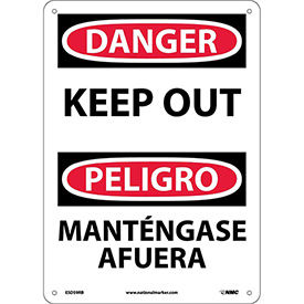 Bilingual Plastic Sign - Danger Keep Out