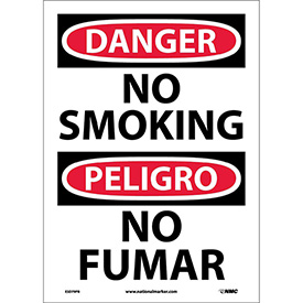 Bilingual Vinyl Sign - Danger No Smoking