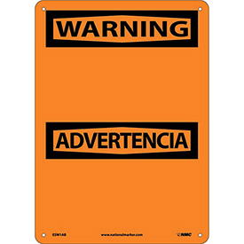 Bilingual Aluminum Sign - Warning Blank