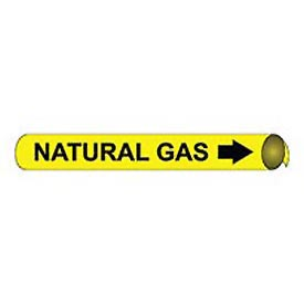 Precoiled and Strap-on Pipe Marker - Natural Gas