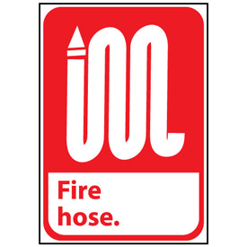 Fire Safety Sign - Fire Hose - Plastic