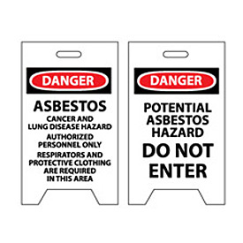 Floor Sign - Danger Asbestos Cancer And Lung Disease Hazard