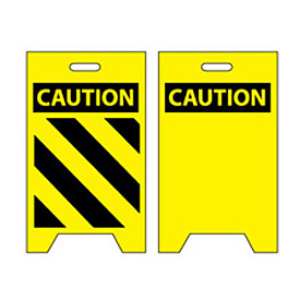 Floor Sign - Caution with Hazard Stripes
