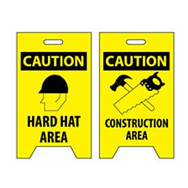 Floor Sign - Caution Hard Hat Area Construction Area