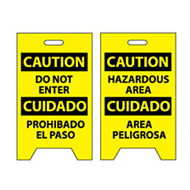 Floor Sign - Caution Do Not Enter Cuidado Pohibado El Paso
