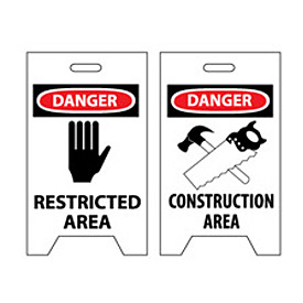 Floor Sign - Danger Restricted Area Construction Area