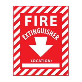 Fire Safety Sign - Fire Extinguisher with Blank Space - Vinyl