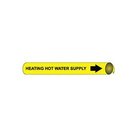 Precoiled and Strap-on Pipe Marker - Heating Hot Water Supply