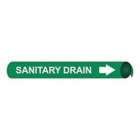 Precoiled and Strap-on Pipe Marker - Sanitary Drain