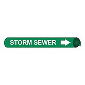 Precoiled and Strap-on Pipe Marker - Storm Sewer
