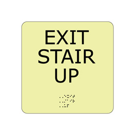 Glow Braille - Exit Stair Up