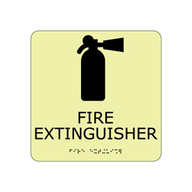 Glow Braille - Fire Extinguisher