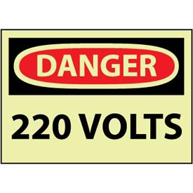 Machine Labels - Glow - Danger 220 Volts